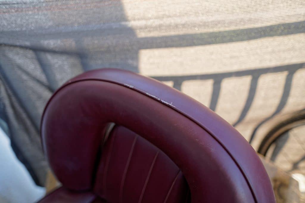 Rénovation cuir baquet Récaro