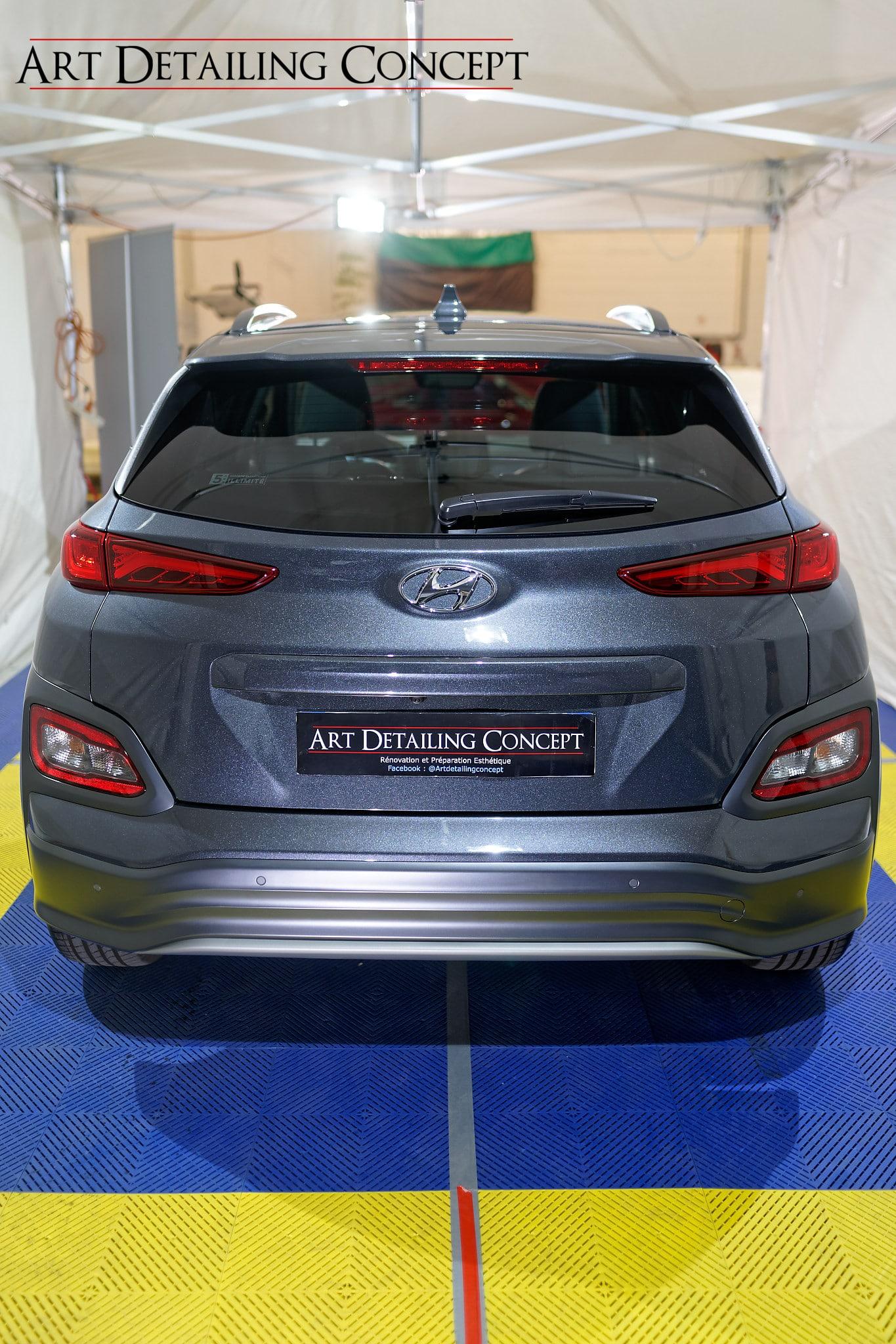 Hyundai traitement céramique vue arriere