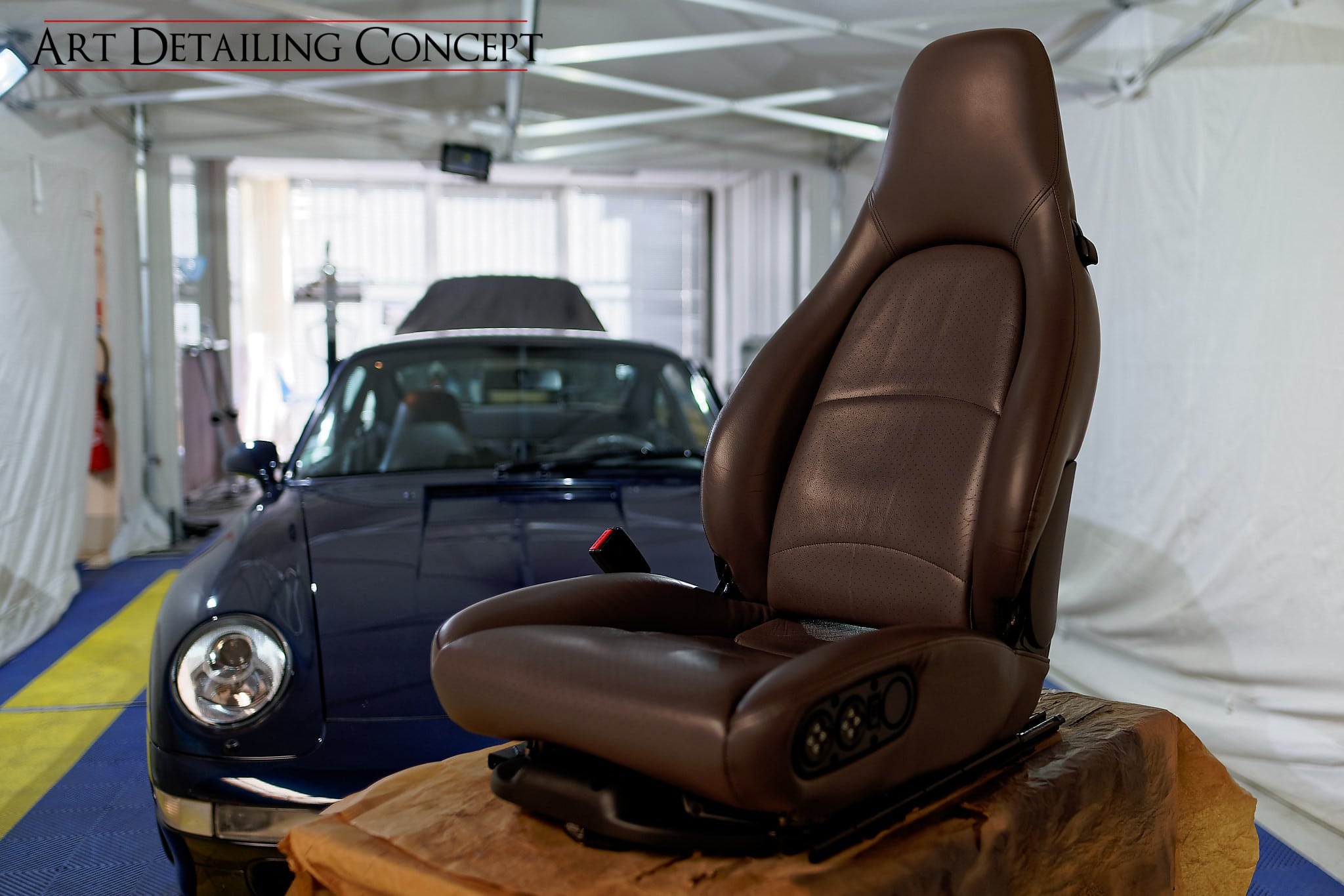 Rénovation cuir Porsche